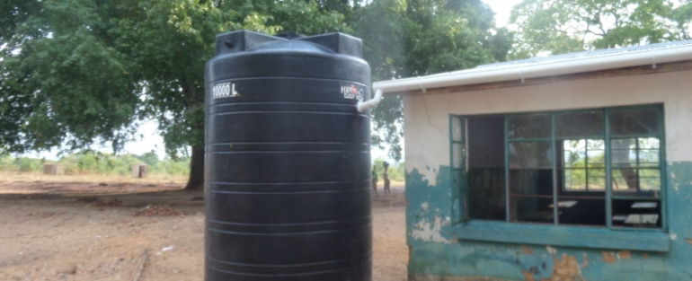 Zambezi Schools benefit from Harvested Rain Water