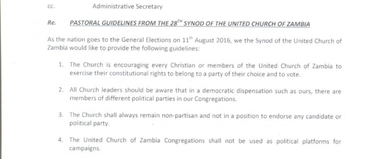 UCZ Guidelines ahead of Aug 11 elections